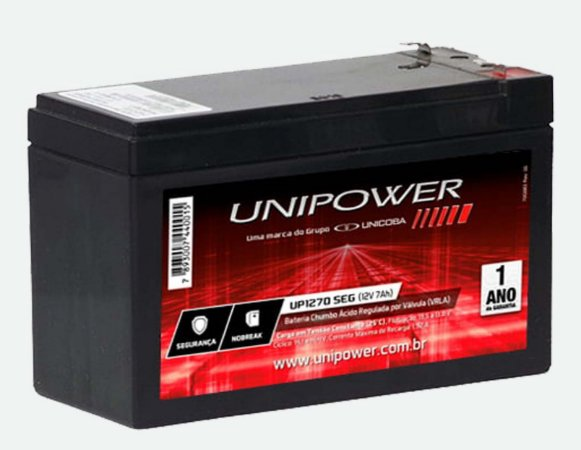 Bateria VRLA 12V 7Ah Mod. UP1270SEG