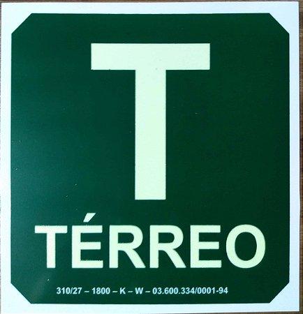 PLACA INDICATIVA DE TÉRREO