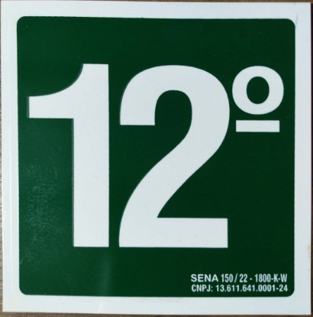 PLACA INDICATIVA DE 12° ANDAR