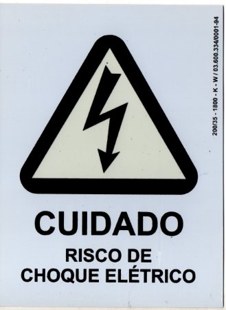 PLACA INDICATIVA - RISCO DE CHOQUE