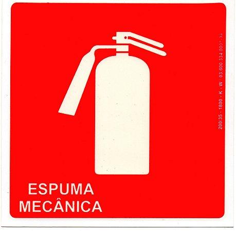 PLACA INDICATIVA DE EXTINTOR ESPUMA MECÂNICA
