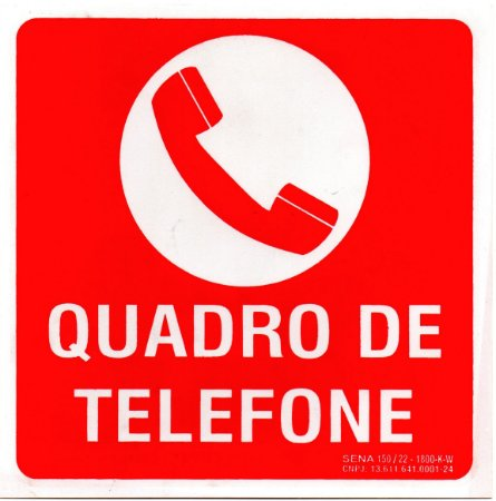 PLACA INDICATIVA - QUADRO DE TELEFONE