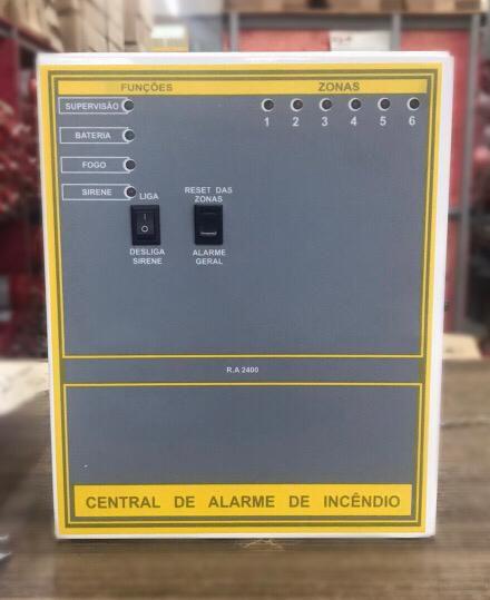 CENTRAL DE ALARME CONVENCIONAL 6 SETORES 12V + BATERIA