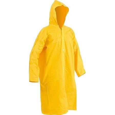 Capa de Chuva PVC Forrado Amarela