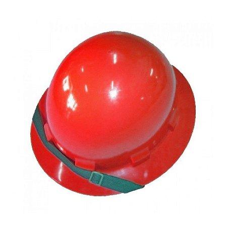 c401c4ee6da4c Capacete vermelho Classe B aba total - BH EPI