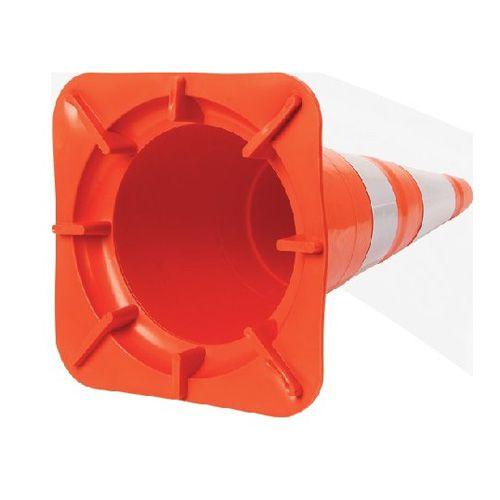 Cone Flexível NBR 15071 Faixa Refletiva