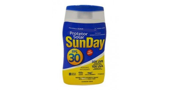 Protetor Solar FPS 30 120ML SUNDAY