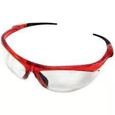 Óculos de Proteção Incolor Haste Vermelha SS7