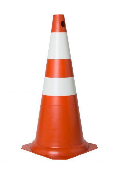 Cone Rigido 75cm Laranja E Branco