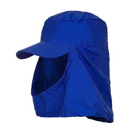 Boné Árabe Brim Azul com Aba , velcro e Elástico