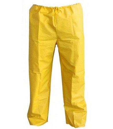 Calca Impermeavel Pvc Forrado Amarelo