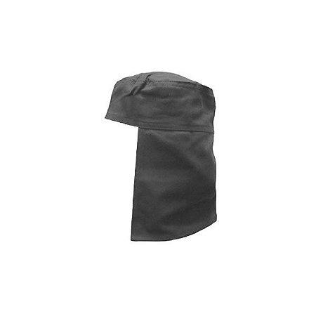 Touca Soldador Brim Cinza - Com Elástico E Velcro