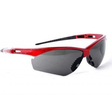 Óculos De Proteção Ss7 Cinza Haste Vermelha Anti Risco