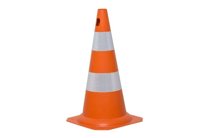 Cone Flexivel 50cm Laranja Com Faixa Refletiva Kateli