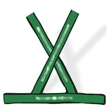 Colete tipo X Verde com Refletivo Plastcor - G