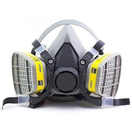 Respirador 3m 6200 Com Cartuchos Para Vapores e Gases Ácidos 6003 3M
