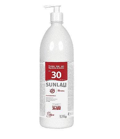 Protetor Solar com Repelente Sunlau FPS 30 Oil Free 1L / 1Kg