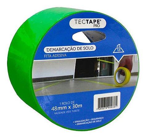 Fita Adesiva Demarcação Tectape Verde 48mmx30m