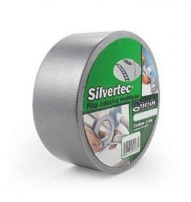 Fita Adesiva Multiuso Polietileno Tecido Prata Tectape Silvertec 48mmx10m