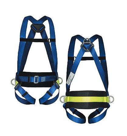 Cinturão Paraquedista De 3 Argolas Com Protecao Lombar - Life 2004