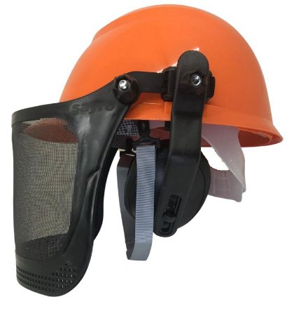Capacete Motosserrista com Abafador e Protetor facial