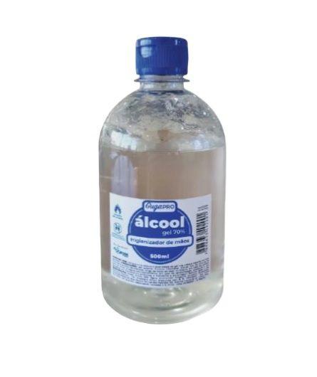 Alcool Gel Antisséptico Para Mãos Frasco 500ml - Plastcor