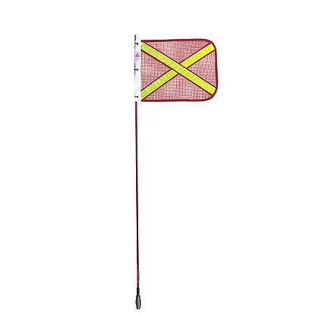 Bandeirola Mineração Antena Sinalizadora Vermelha 1,30m Suporte para Vidro