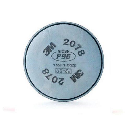 Filtro Mecânico 2078 P2 - Contra Poeiras, Névoas E Fumos 3m