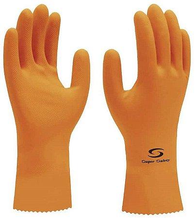 Luva De Látex Super Orange - Tam 10 (GG)  Ca 33778