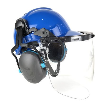 Capacete de Proteção Acoplado Com Abafador De Ruído E Protetor Facial Libus