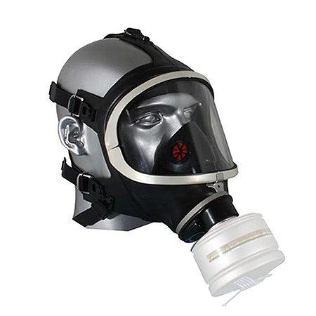 Respirador Facial Inteira Panorama Para 1 Cartucho Airsafety Full face Ca 5758