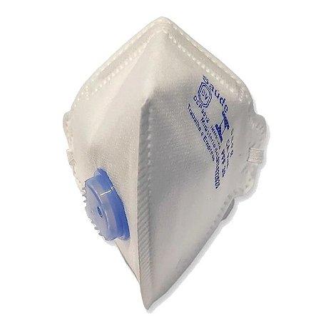 Respirador Maskface Pff-3s Branca Com Válvula Ca 9246