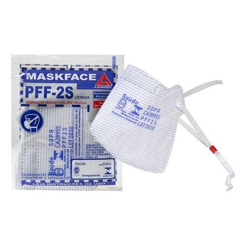 Respirador Descartavel Pff2 Listrada Sem Valvula Airsafety Mask - Ca 38955