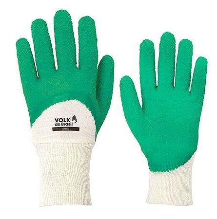 Luva de Proteção Green Volk Látex Corrugado Para Serviços Geais CA 38800