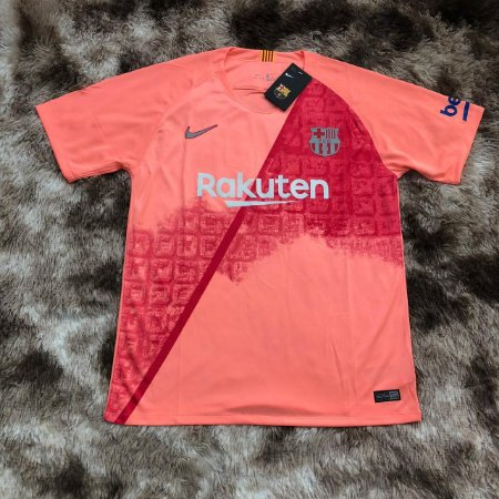 Camisa Barcelona Third 2018 s nº - Torcedor Nike Masculina - Salmão ... d307cda1f6c18