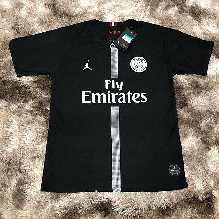 Camisa Jordan x PSG III 18 19 Nike - Masculina Preta - www ... e5fa29e3dc608