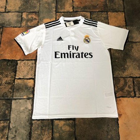 3edb23f3ab Camisa Real Madrid Infantil Home 2018 s n° - Torcedor Adidas - Branco e