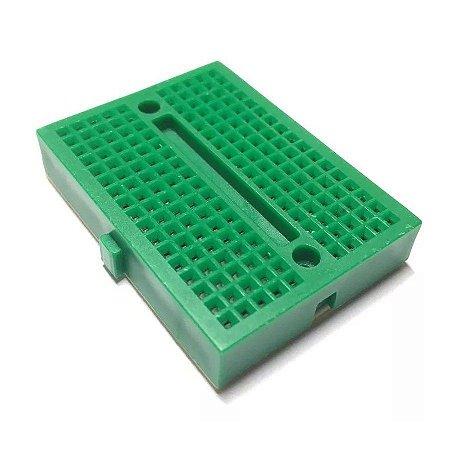 Mini Protoboard 170 furos - verde