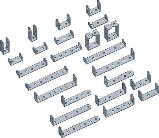 Kit Mancais metálicos 12 pares diferentes