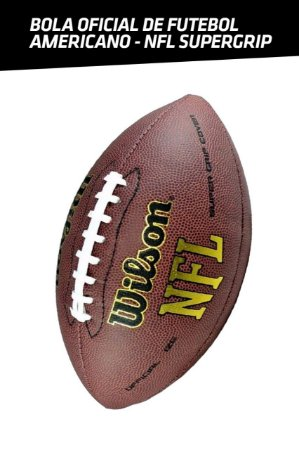 Bola de Futebol Americano Wilson NFL Super Grip - T-Rex Store 7d8a3ffce371f