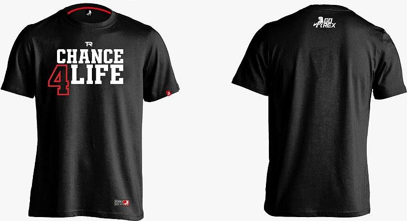 Camisa Preta Chance4Life Algodão - Coleção 2K21