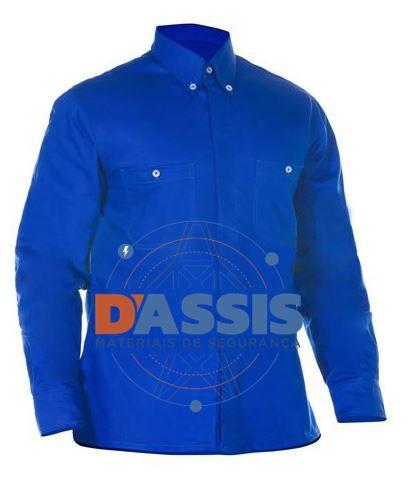 Camisa Antichama Azul s/ refletivo - C.A. 30409