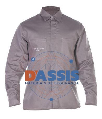 Camisa Antichama Cinza s/ refletivo - C.A. 30409