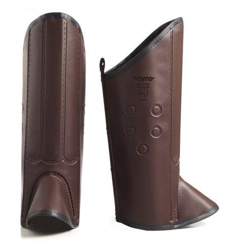 Perneira de Proteção em Couro Com Talas e Velcro - Sayro CA 14750