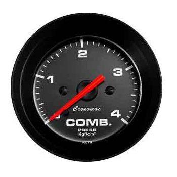 02524e056ce Manômetro 52mm Combustível 4kg Street Preto - GTO SHOP