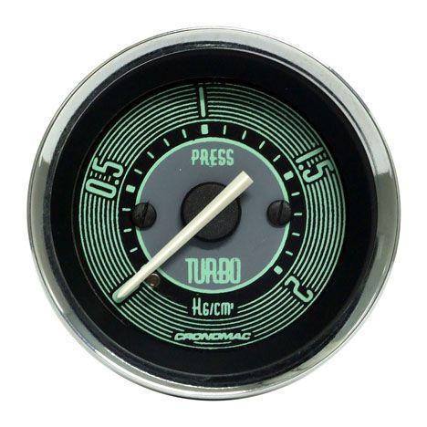610d68643c0 Manômetro 52mm Turbo 2kg Volks Verde - GTO SHOP