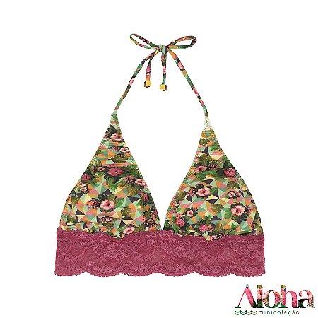 Minicoleção Aloha : Sutiã Petit Gateau de Fluity Hibisco Tropical / Rosa Astrimleia