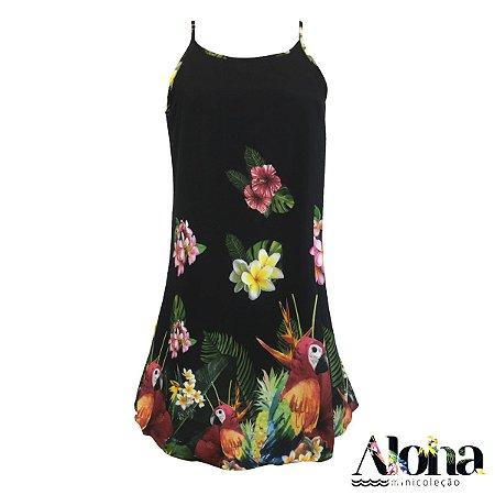 Mini Coleção Aloha : Vestido Potti Arara Viva