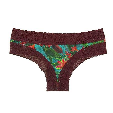 Calcinha Biquinho de Ligth jeans Garden / Sensuale