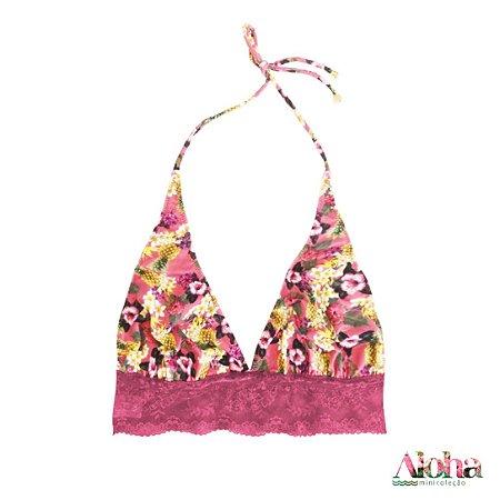 11024eccd Minicoleção Aloha   Sutiã Petit Gateau de Fluity Abacaxi   Rosa Astromelia